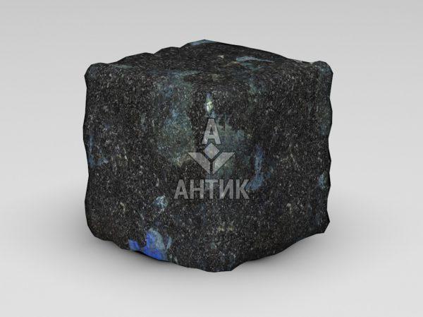 Брусчатка из Слободского лабрадорита 150x150x150 галтованная фото