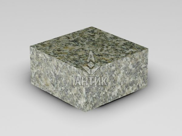Брусчатка из Старобабанского гранита 100x100x50 пиленая термообработанная фото
