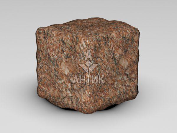 Брусчатка из Токовского гранита 100x100x100 галтованная фото