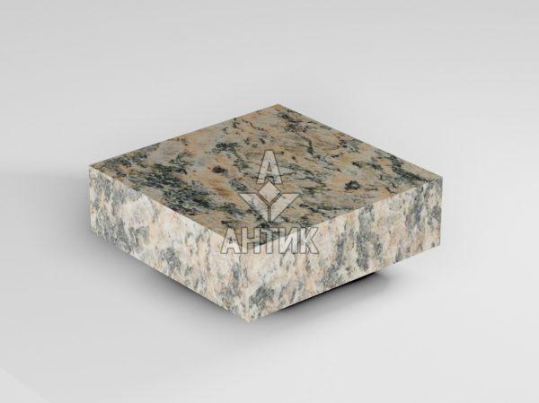 Брусчатка из Юрьевского гранита 100x100x30 пиленая термообработанная фото