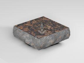 Брусчатка из Жадановского гранита 100x100x30 пилено-колотая термообработанная фото
