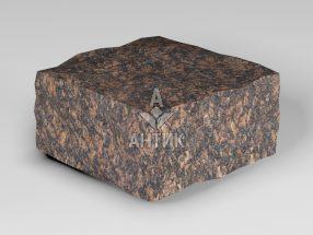 Брусчатка из Жадановского гранита 100x100x50 колотая фото