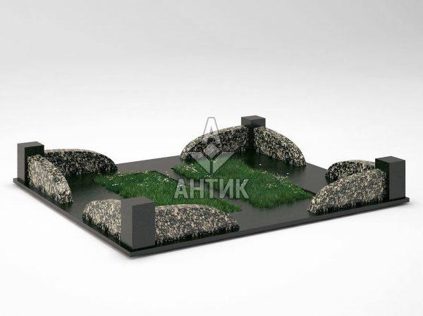 Ограда на могилу COGM-31-08 Корнинский гранит фото