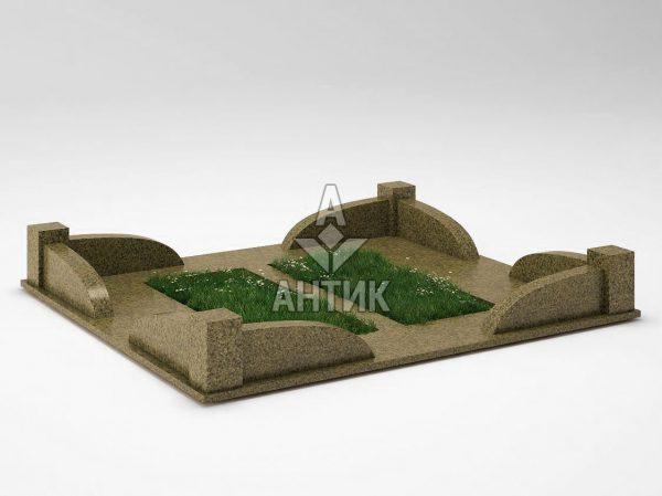 Ограда на могилу COGM-31-11 Маславский гранит фото