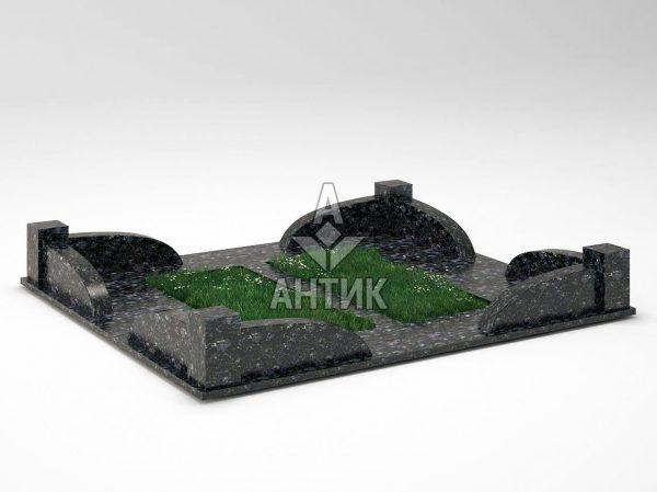 Ограда на могилу COGM-31-14 Осныковский лабрадорит фото