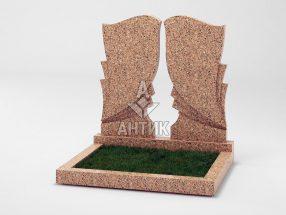 Памятник PADVOGR-002-12 Межиричский гранит фото