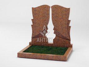 Памятник PADVOGR-002-13 Новоданиловский гранит фото