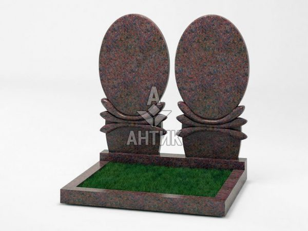 Памятник PADVOGR-036-06 Кишинский гранит фото