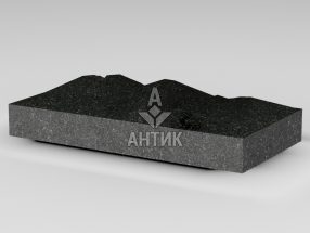 Плитка из Букинского габбро 400x200x50 колотая фото