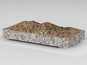 Плитка из Емельяновского гранита 400x200x50 колотая фото