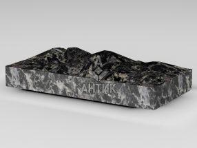 Плитка из Головинского лабрадорита 400x200x50 колотая фото