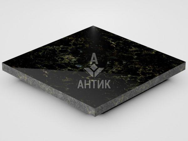 Плитка из Каменнобродского лабрадорита 300x300x20 полированная фото