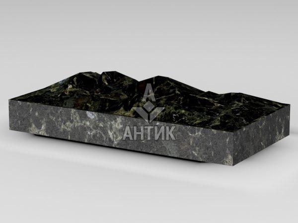 Плитка из Каменнобродского лабрадорита 400x200x50 колотая фото