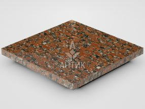 Плитка из Капустинского гранита 300x300x20 полированная фото