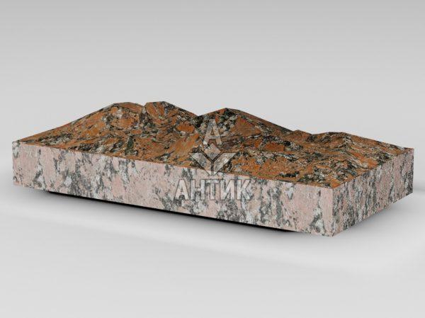 Плитка из Капустинского гранита 400x200x50 колотая фото