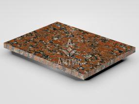 Плитка из Капустинского гранита 400x300x20 полированная фото