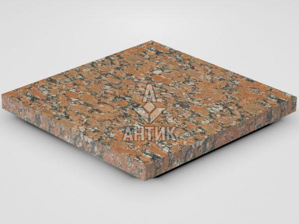 Плитка из Капустинского гранита 400x400x30 термообработанная фото