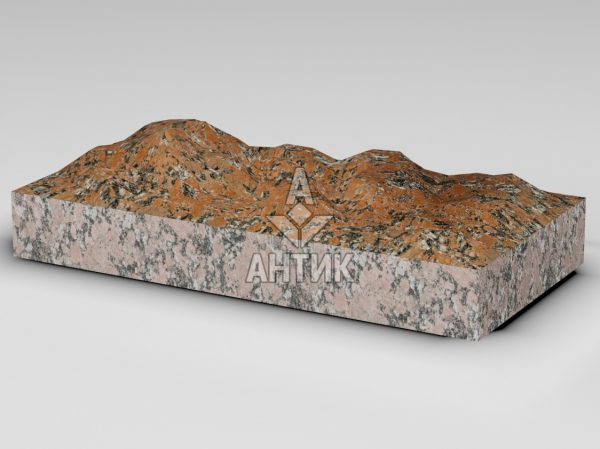 Плитка из Капустинского гранита 600x300x80 колотая фото