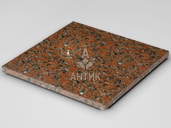 Плитка из Капустинского гранита 600x600x30 полированная фото