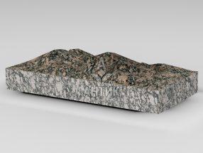 Плитка из Крупского гранита 400x200x50 колотая фото