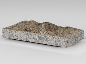 Плитка из Межиричского гранита 400x200x50 колотая фото