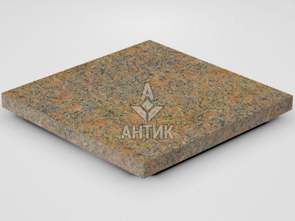 Плитка из Новоданиловского гранита 400x400x30 термообработанная фото