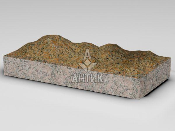 Плитка из Новоданиловского гранита 600x300x80 колотая фото