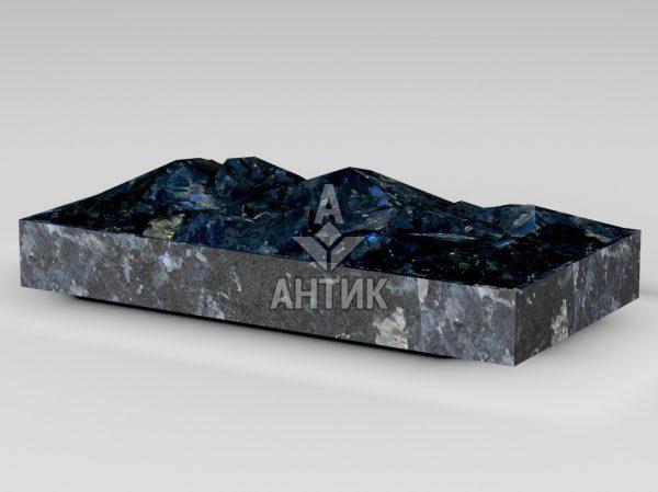 Плитка из Очеретянского лабрадорита 400x200x50 колотая фото