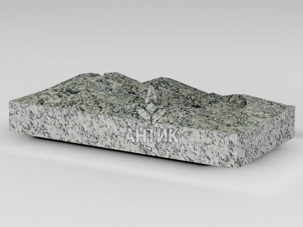 Плитка из Симоновского серого гранита 400x200x50 колотая фото