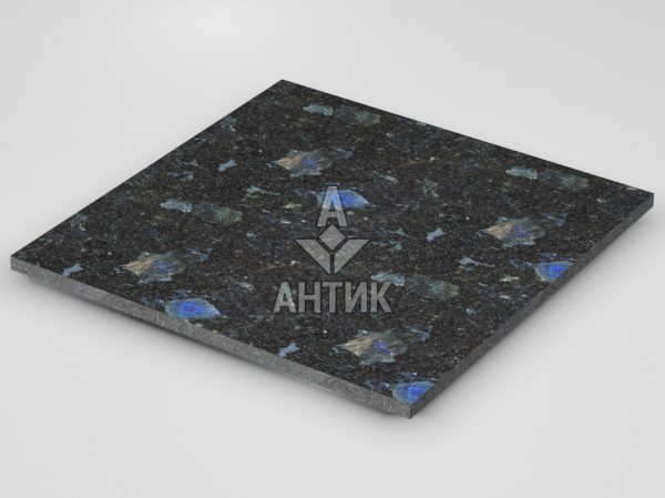Плитка из Слободского лабрадорита 600x600x20 термообработанная фото