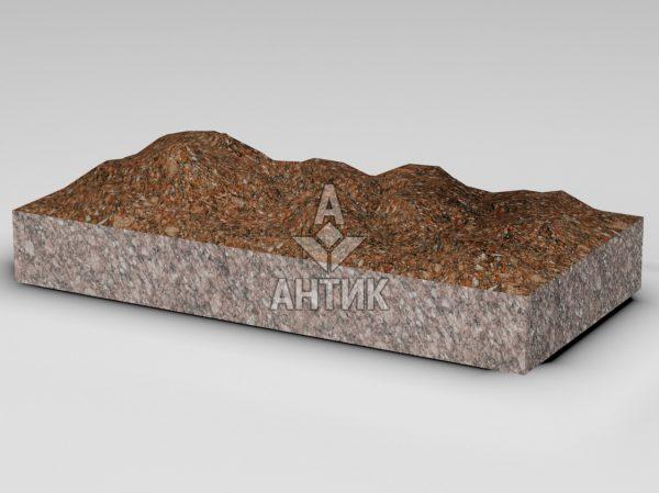 Плитка из Токовского гранита 600x300x80 колотая фото