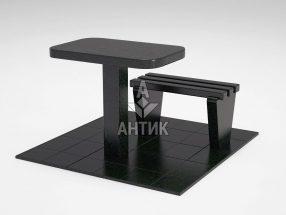Стол и лавка STOLAV-001-01 Букинский габбро фото