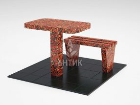 Стол и лавка STOLAV-001-05 Капустинский гранит фото