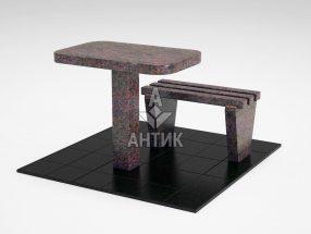 Стол и лавка STOLAV-001-06 Кишинский гранит фото