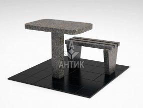 Стол и лавка STOLAV-001-11 Маславский гранит фото