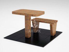 Стол и лавка STOLAV-001-13 Новоданиловский гранит фото