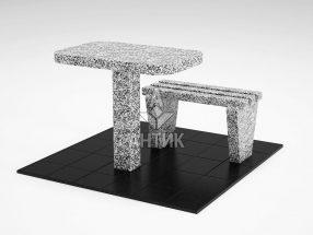 Стол и лавка STOLAV-001-15 Покостовский гранит фото