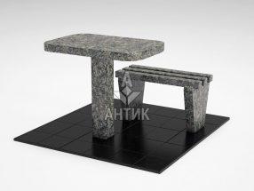 Стол и лавка STOLAV-001-16 Роговский гранит фото