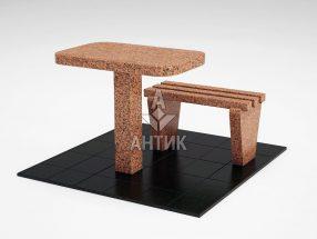 Стол и лавка STOLAV-001-17 Симоновский гранит фото