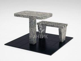 Стол и лавка STOLAV-001-19 Танский гранит фото