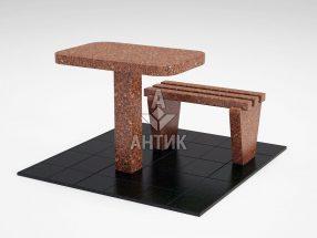 Стол и лавка STOLAV-001-20 Токовский гранит фото