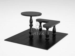 Стол и лавка STOLAV-002-01 Букинский габбро фото