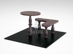 Стол и лавка STOLAV-002-06 Кишинский гранит фото
