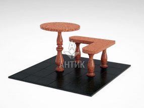 Стол и лавка STOLAV-002-09 Лезниковский гранит фото