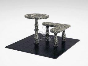 Стол и лавка STOLAV-002-10 Луковецкий анортозит фото