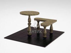 Стол и лавка STOLAV-002-11 Маславский гранит фото