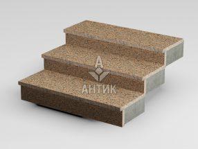 Ступень накладная из Емельяновского гранита 350x30x1000 термообработанная фото