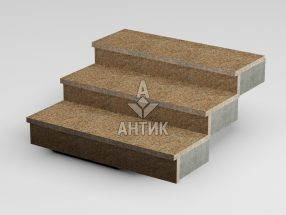 Ступень накладная из Кишинского гранита 350x30x1000 термообработанная фото