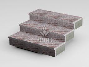 Ступень накладная из Крутневского гранита 350x30x1000 термообработанная фото