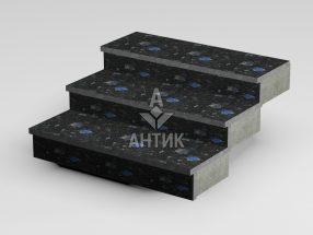 Ступень накладная из Слободского лабрадорита 350x30x1000 термообработанная фото